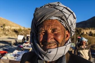 Friendly old Hazara man
