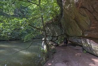 Rocks of the Schwarzachklamm with the Schwarzach