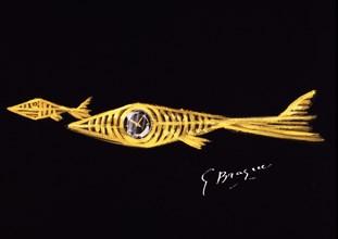 Braque, Laios, Etude pour une broche en or