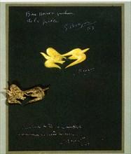 Mini-affiche de l'exposition des Bijoux de Braque, réalisée au Japon au Printemps de Ginza, 1ère partie