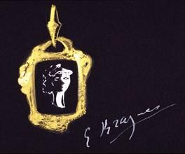 Braque, Projet de bijou (Perséphone)