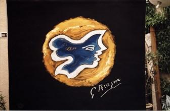 Tapisserie réalisée d'après Hécate, de Braque