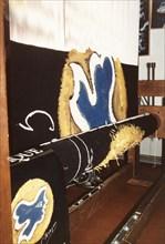 Tapisserie réalisée d'après Hécate, de Braque, en cours de réalisation