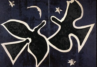 """Braque, Plafond """"Les Oiseaux"""" de la salle Henri II au palais du Louvre"""