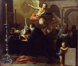 Palomino y Velasco, Saint Francis Borgia s'agenouillant devant le corps décomposé de l'impératrice Isabelle d'Espagne, épouse de Charles Quint