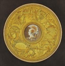Brongniart, Projet pour le décor du plateau de porcelaine de la table des Grands Capitaines de l'Antiquité