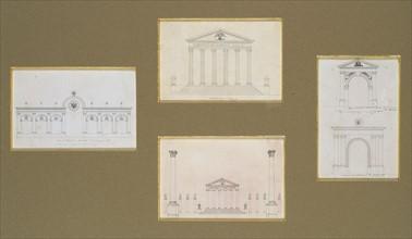 Projets pour un monument célébrant le mariage de Napoléon 1er avec Marie-Louise