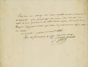 Ordre manuscrit du maréchal Berthier concernant la bataille d'Austerlitz