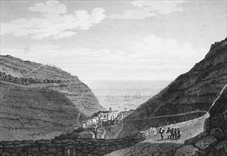 Vue de l'ile de Sainte-Hélène