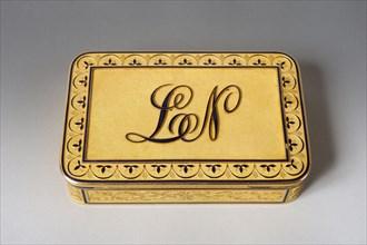 Boite de présentation royale au chiffre de Louis Napoléon Bonaparte,
