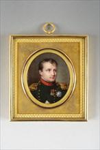 Portrait de Napoléon 1er en uniforme de chasseur à cheval de la Garde Impériale