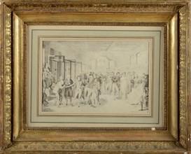 Isabey, Bonaparte visite la manufacture des frères Sévène à Rouen