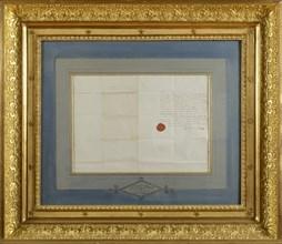 Certificat de mariage de l'Empereur Napoléon et de l'Impératrice Joséphine