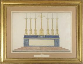 Projet de Maître-autel pour le mariage de l'Empereur Napoléon 1er et de l'Impératrice Marie-Louise