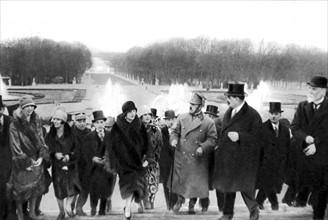 Séjour en France des souverains Afghans, en 1928.