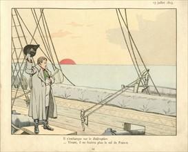 Livre pour enfant : Napoléon en route pour Sainte-Hélène
