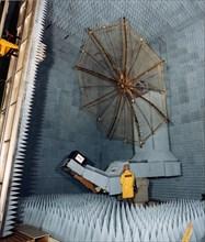 Test d'antenne en chambre anéchoïque, 1977