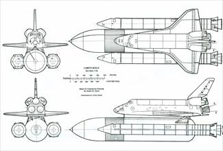 Schéma de la navette spatiale américaine