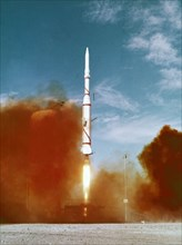 Lancement d'une fusée Diamant, 1966