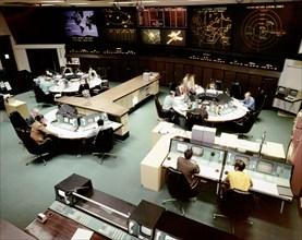 Salle de contrôle des vols de sondes spatiales, 1971