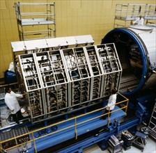 Fabrication d'un module Spacelab, 1978