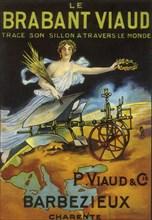 Publicité pour la charrue brabant Viaud, vers 1925