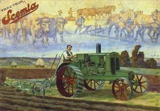 Tracteur Scemia U20, vers 1920