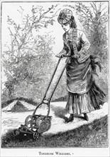 Tondeuse archimédienne pour pelouses, 1878
