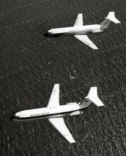 Deux BAC 1-11 en vol, 1964