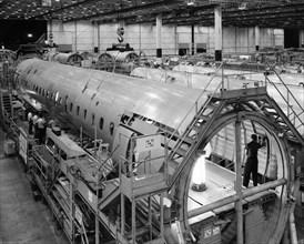 Assemblage de Douglas DC-9 en 1965