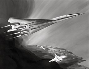 Vue d'artiste du Boeing 2707 datée de 1970
