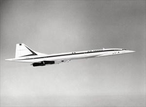 Le Concorde en vol en 1985