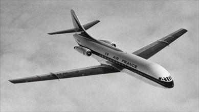 La Sud Aviation Caravelle SE 210 en vol, 1958