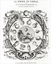 Gravure du jeu des ballons, 1850