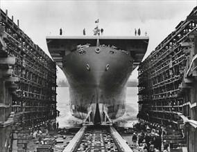 Lancement de l'USS Liscome Bay, 1943