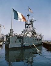 """Le cuirassé """"Lorraine"""" au lendemain de la seconde guerre mondiale"""
