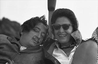 Dali et Gala sur leur bateau