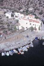 Vue aérienne de la maison-laboratoire de Salvador Dali à Port LligatDali