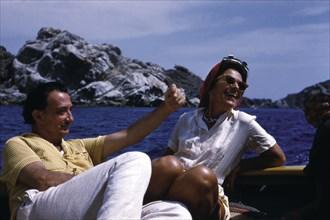 Dali et Gala en promenade en bateau au cap de Creus