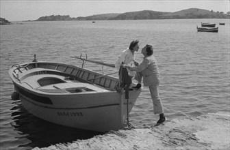 Salvador Dalí et Gala à Port Lligat, août 1957