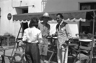 Gala, Marcel Duchamp et Salvador Dalí à Cadaqués, 1958