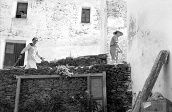 Salvador Dali et Marcel Duchamp, Cadaqués, 1958