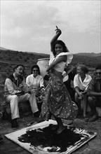 La Chunga danse sur une toile de Dali