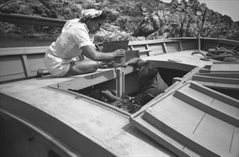 Gala et Arturo Caminada, Port Lligat, 1959