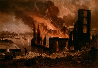 Anonymous painting, Fire on May 27, 1871