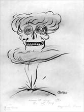 Caricature à propos de la bombe atomique lancée sur Hiroshima