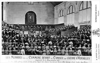 Les membres de la Commune devant le conseil de guerre de Versailles