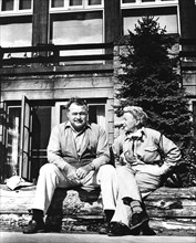 Ernest Hemingway (1899-1961) and his wife Mary Welch