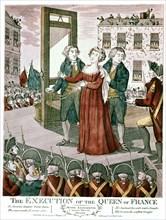 Exécution de Marie-Antoinette en 1793