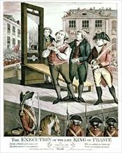 Gravure anglaise. Exécution de Louis XVI, 1793